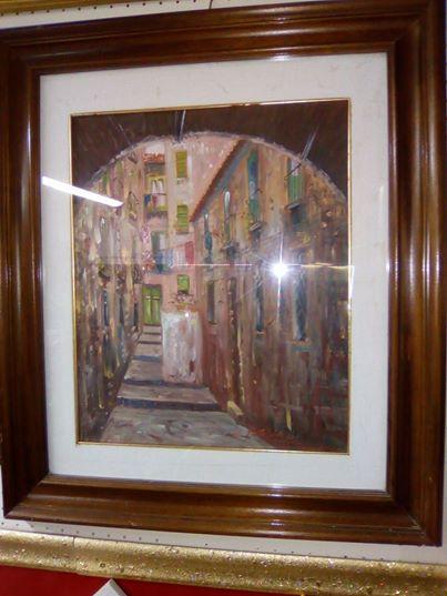 Opera 40x50 olio su tela dell'artista Luciano Valeriani dal titolo