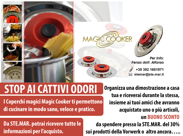 Magic Cooker i coperchi magici. Stop ai Cattivi Odori