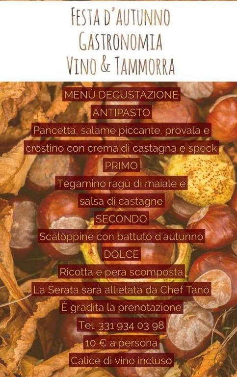 Festa d'Autunno... Gastronomia Vino & Tammorra