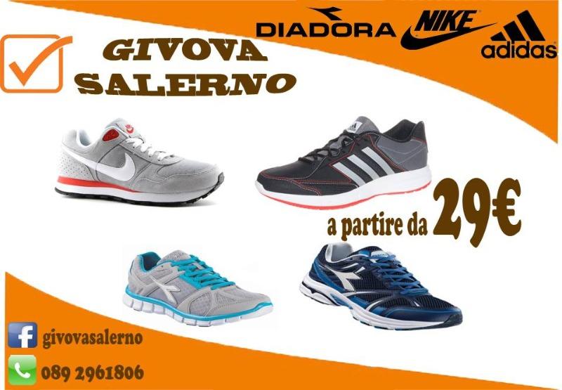 Scarpe Nike, Adidas, Diadora a partire da 29 euro