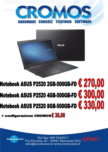 Offerte notebook Asus P2520