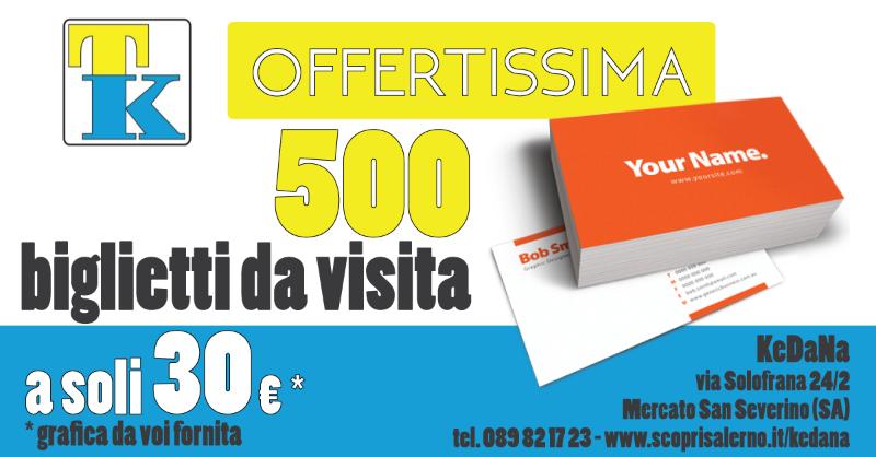 Offerta 500 biglietti da visita a soli 30 €