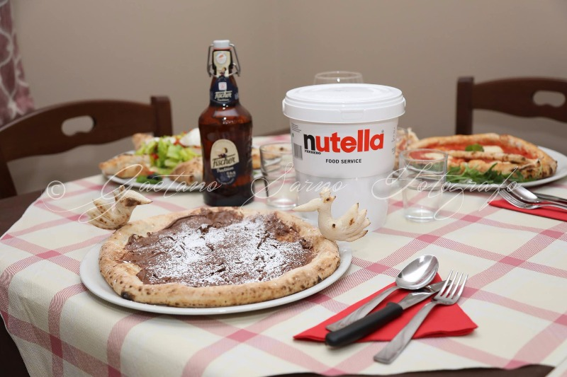 Pizza con la nutella