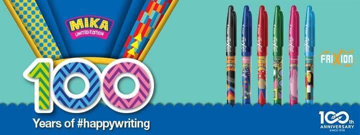 Edizione limitata penne frixion firmate da Mika
