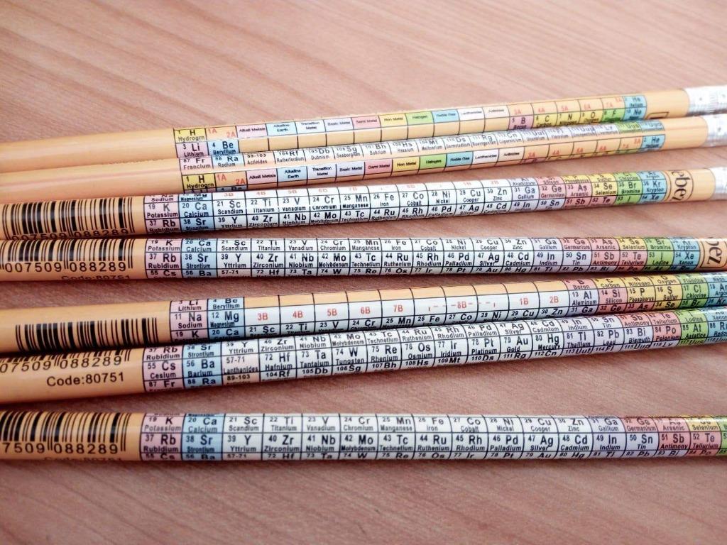 matite con tavole periodiche