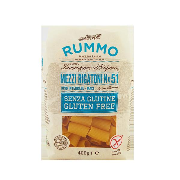 Pasta Rummo senza glutine MEZZI RIGATONI