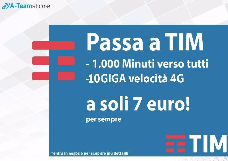 Passa a TIM  1000 minuti 10 Giga 7 €