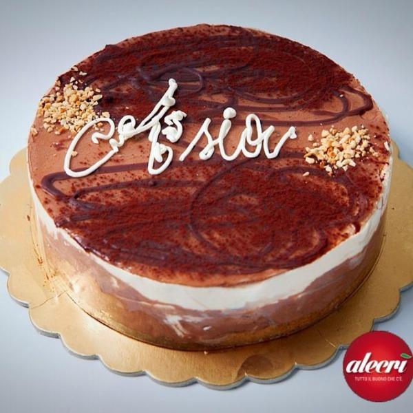 Torta Cioccolato caffè panna e croccante