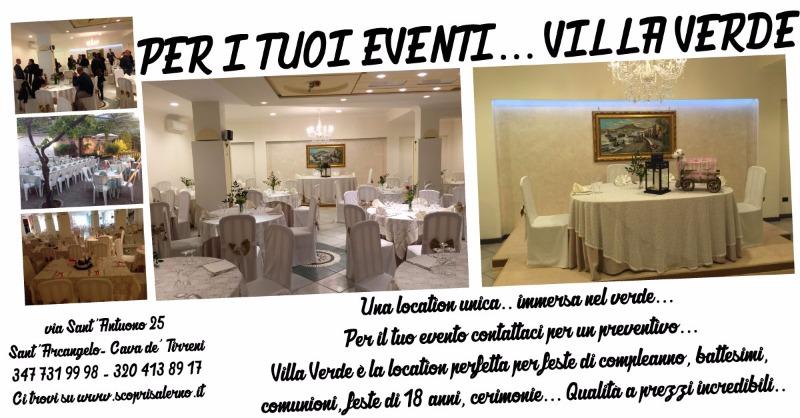 Per i tuoi eventi... Villa Verde