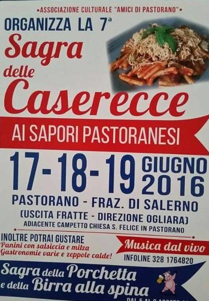 Torna per VII edizione della Sagra delle Caserecce a Salerno