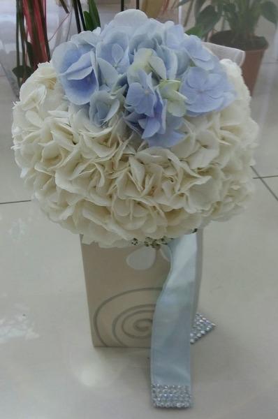 Bouquet sposa ortensie bianche azzurre i fiori di for Ortensie bianche