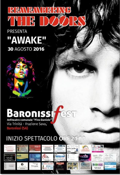 30 Agosto all'Anfiteatro di Bronissi AWAKE - Remembering THE DOORS
