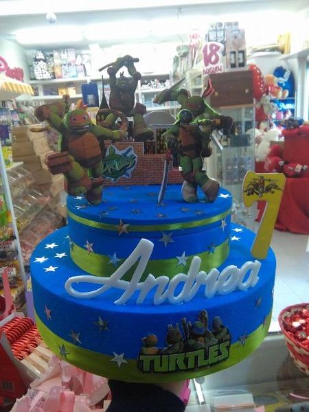 Torta tartarughe ninja di polistirolo