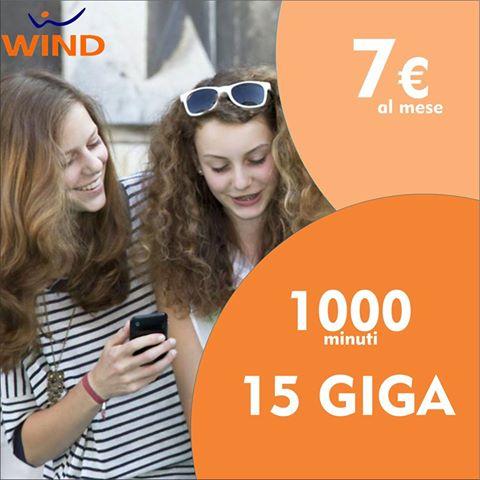 1000 minuti e 15 GB di internet a soli 7€ al mese