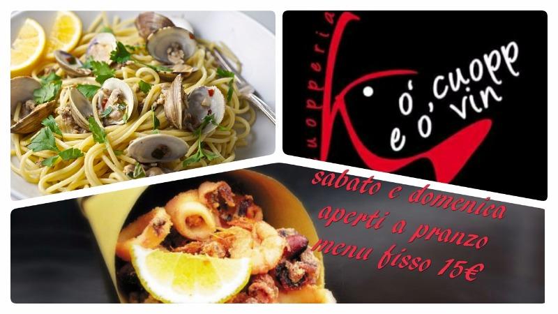 Aperti a pranzo sabato e domenica con menù fisso a 15€