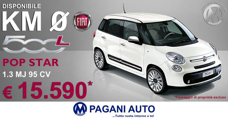 Fiat 500 L 1.3 Mj 95 cv Pop Star Disponibile Km 0
