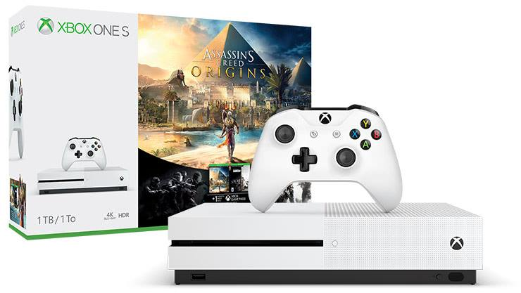 Console Microsoft Xbox One S 500GB 4K + Gioco Assassin's Creed Origins Limited Bundle