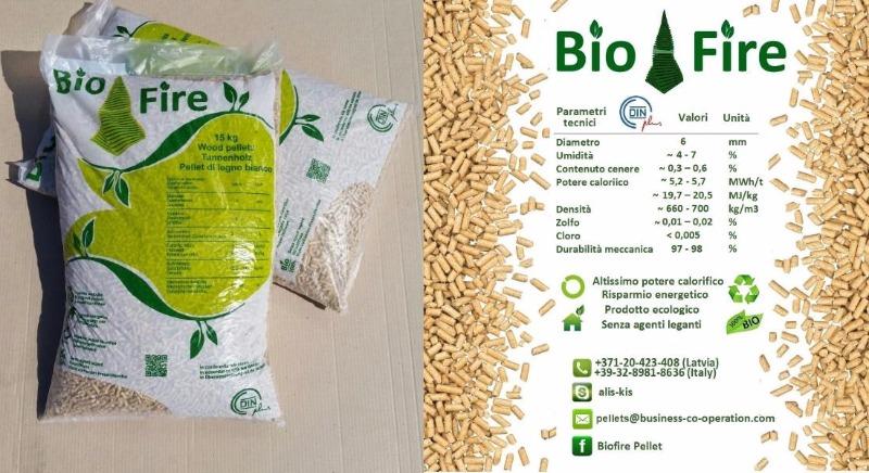 Pellet 100% biologico BioFire € 5.00