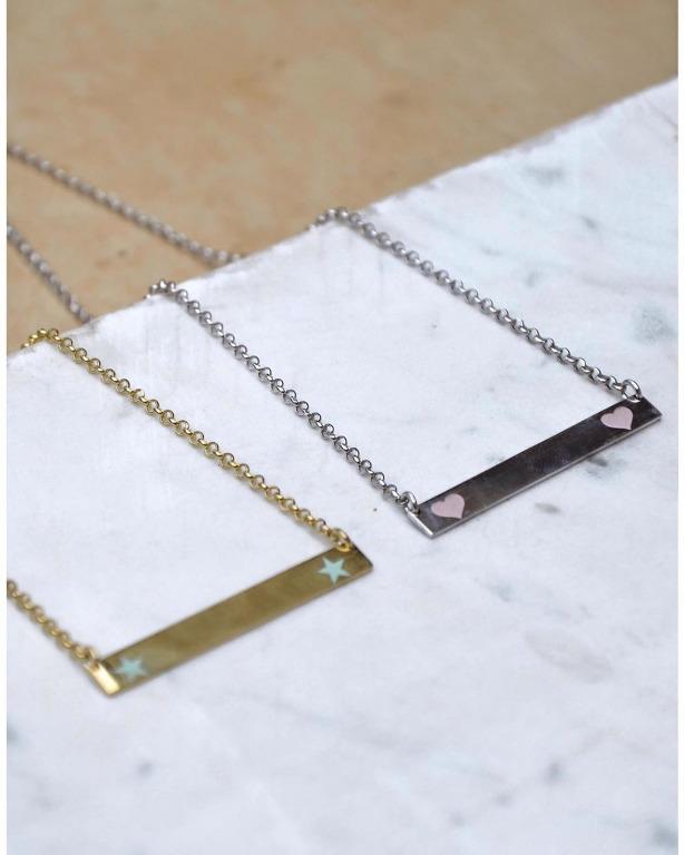 Personalizza collana basica in argento925 con targhetta