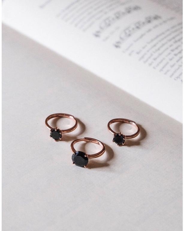 anello BlackSoul in argento 925 rosegold,