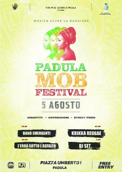 Il 5 agosto arriva la prima edizione del Padula MOB Festival