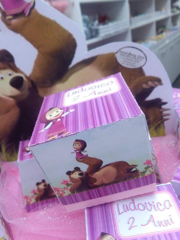 Scatoline personalizzate masha e orso per la piccola Ludovica