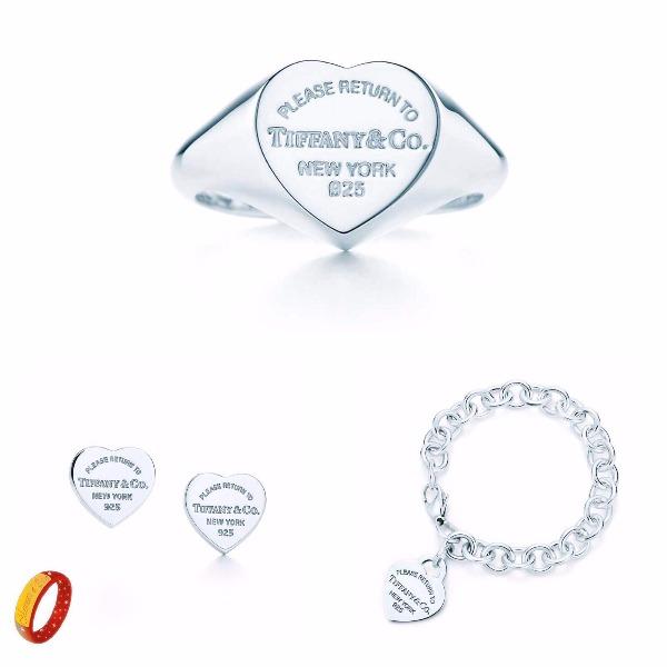 Bracciale anello ed orecchini simil Tiffany