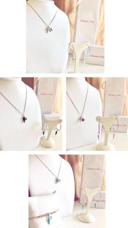 Collane, orecchini e bracciali in argento925 anallergico e ciondolo in ceramica disponibile in tantissimi colori