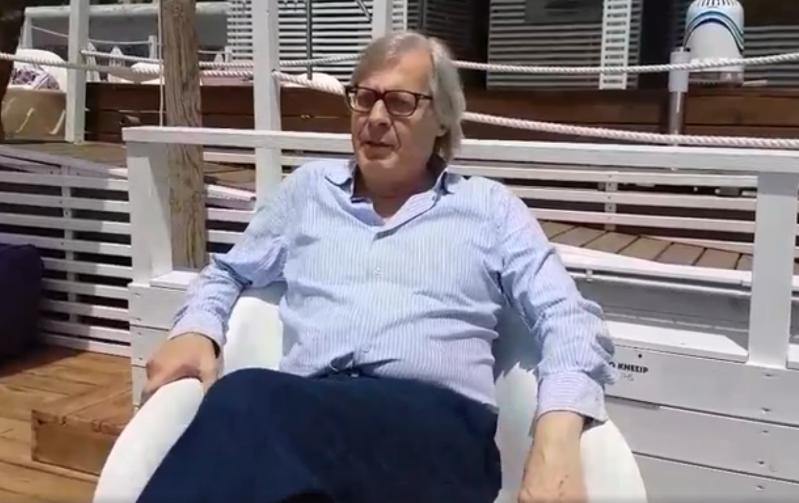 Vittorio Sgarbi in Costiera Amalfitana. Ospite all'Otium Spa Mare