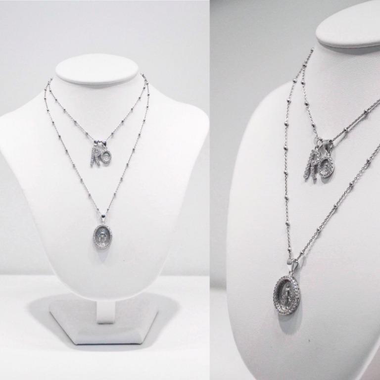 Collane in argento 925 modello Rosario disponibili in diverse lunghezze e colori