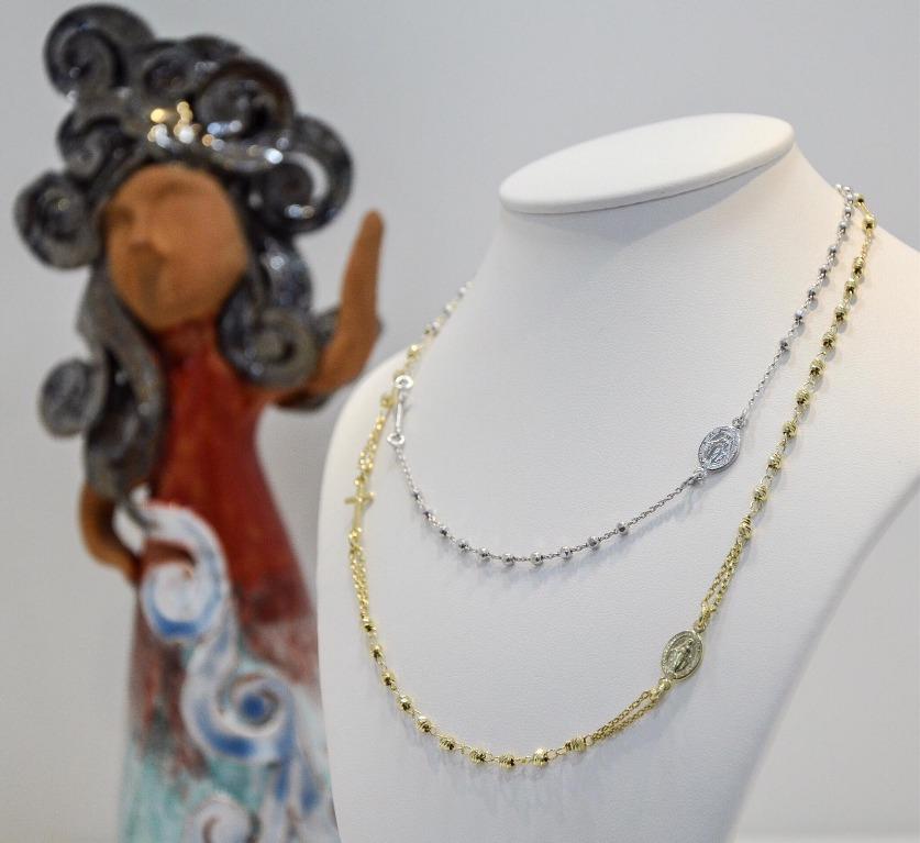 Collana modello Rosario in argento 925 disponibili in diverse lunghezze