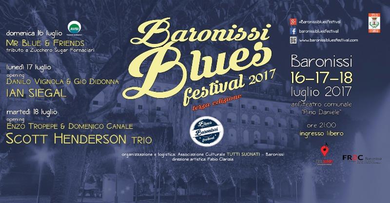 Dal 16 al 18 luglio al via la terza edizione del Baronissi Blues Festival