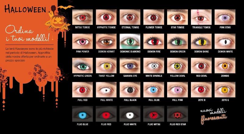 Lenti a contatto colorate per un Halloween da paura!