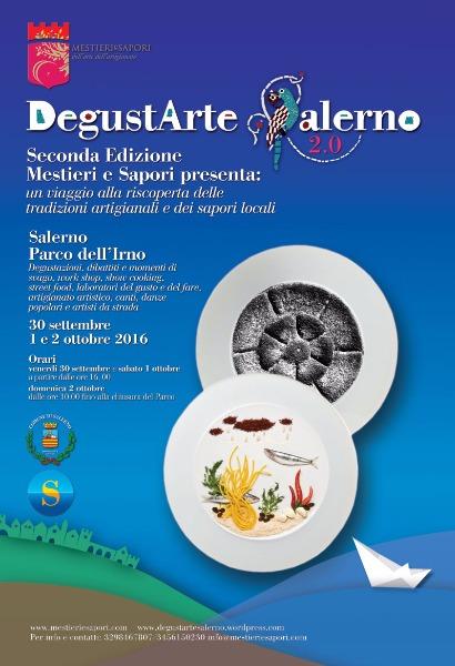 Dal 30 settembre al 2 ottobre al via DegustArte Salerno 2.0