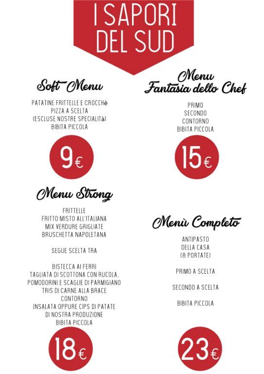 I nostri menu