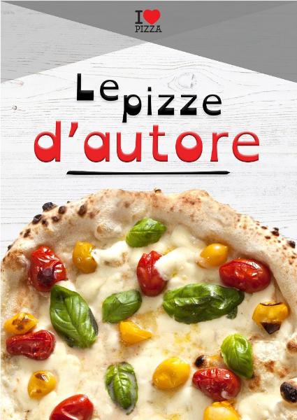 Menu Le Pizze D'Autore